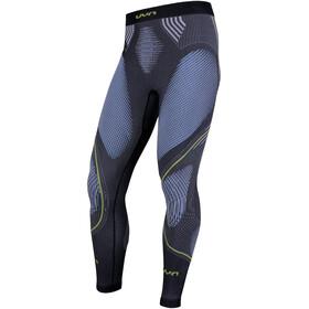 UYN M's Evolutyon Melange UW Long Pants Anthracite Melange/Blue/Yellow Shiny